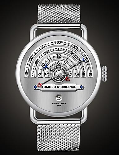 8441efcf420 Homens Mulheres Relógio Militar Relógio de Pulso Suíço Quartzo Aço  Inoxidável Prata 30 m Impermeável Calendário