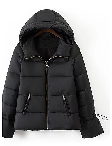 Damen Gefüttert Mantel,Standard Einfach Ausgehen Lässig/Alltäglich Solide-Baumwolle Andere Langarm