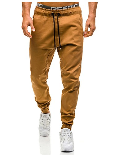 Affidabile Per Uomo Moda Città Taglie Forti Cotone Harém - Pantaloni Della Tuta Pantaloni - Tinta Unita Grigio - Sport #06413314 Perfetto Nella Lavorazione