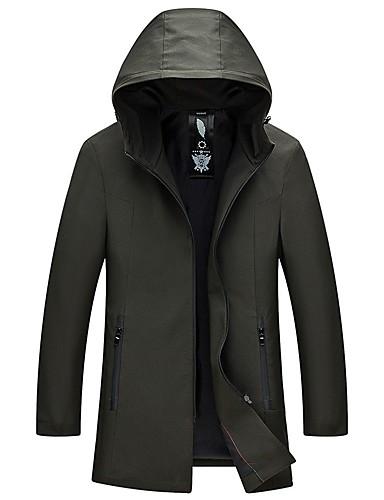 Herren Solide Beiläufig / sportlich Alltag Trench Coat Winter Lang Polyester