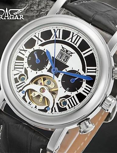 Jaragar Męskie Nakręcanie automatyczne Zegarek na nadgarstek Kalendarz Skóra Pasmo Na co dzień Do sukni / garnituru Modny Nowoczesne