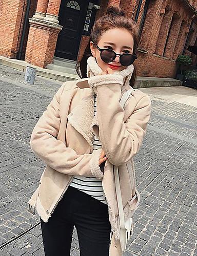 Damen - Solide Einfach / Freizeit Mantel