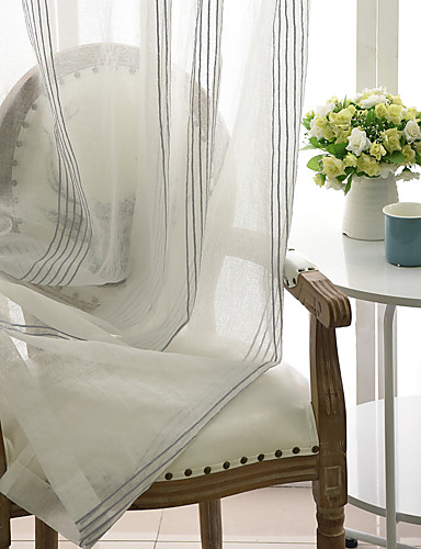 cheap Sheer Curtains-Contemporary Sheer Curtains Shades Sheer Indoor   Curtains / Embroidery / Bedroom