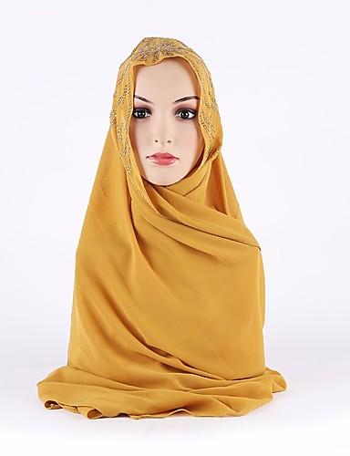 Damen Polyester Hidschab Solide / Ganzjährig