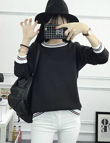 Damen Kapuzenshirt Lässig/Alltäglich Solide Unelastisch Polyester