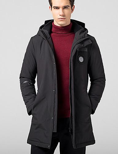 Herren Gefüttert Mantel Einfach Lässig/Alltäglich Solide-Andere Langarm