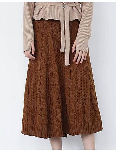 Damen Midi Röcke Rock & Kleid