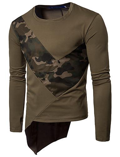 Męskie Sport Długi rękaw Bluzy - kamuflaż Okrągły dekolt