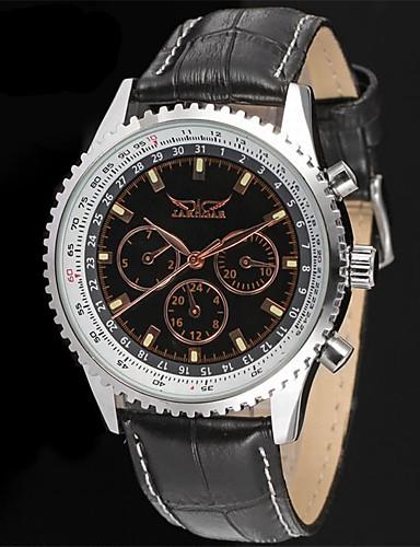 Jaragar Męskie Nakręcanie automatyczne Zegarek na nadgarstek Gorąca wyprzedaż Skóra Pasmo Na co dzień Do sukni / garnituru Modny
