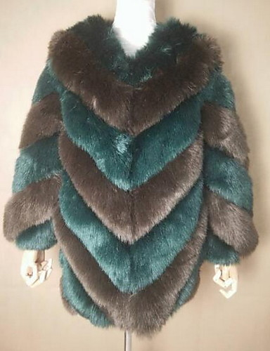 a0058e359224 Γυναικεία Φθινόπωρο   Χειμώνας Μεγάλα Μεγέθη Μακρύ Γούνινο παλτό