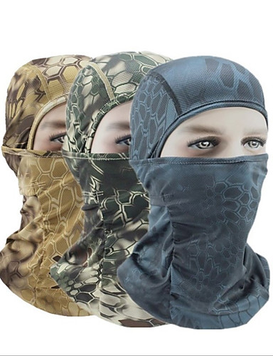 cheap Cycling Clothing-Balaclava Pollution Protection Mask Warm Bike / Cycling Mineral Green Camouflage Khaki Polyester for Unisex Camping / Hiking Ski / Snowboard Cycling / Bike Cross-Country Bike / Cycling Camo