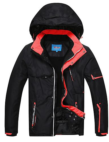 Phibee Men s Ski Jacket Waterproof Windproof Warm Ski   Snowboard Polyester Jacket  Ski Wear   Winter cd3bed079