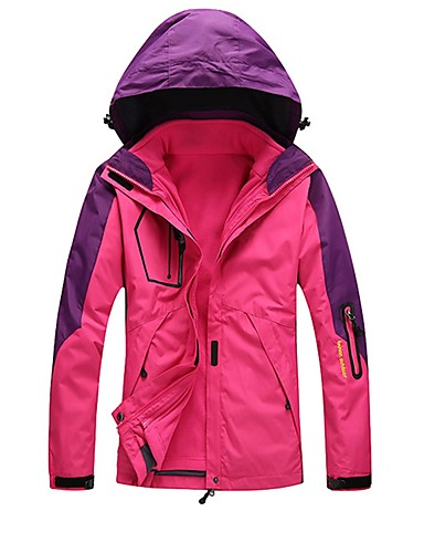 cheap Outdoor Clothing-Unisex Hiking 3-in-1 Jackets Outdoor Waterproof Windproof Rain Waterproof Breathability Autumn / Fall Winter 3-in-1 Jacket Winter Jacket Camping / Hiking Camping / Hiking / Caving Snowsports Army
