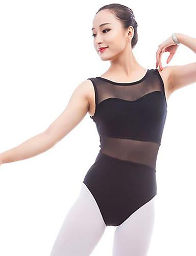 voordelige Shall We®-Ballet Gympakken Dames Prestatie Katoen Combinatie Mouwloos Natuurlijk Gympak / Onesie