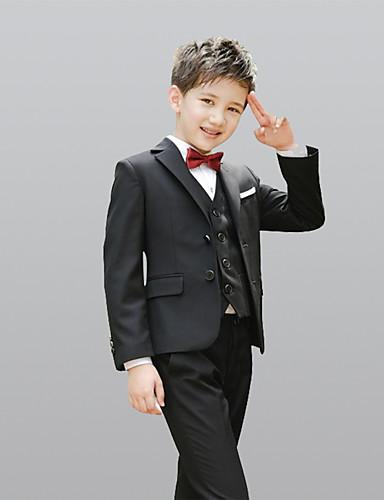 fc3d73087e Bordó   Černá   Tmavě námořnická 100% bavlna Oblek pro mládence - 5  Obsahuje Sako