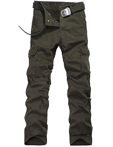 7b554a4142 Hombre Pantalones cargo Al aire libre Listo para vestir Fitness Campo  Traviesa Esquí Fuera del Camino Otoño Invierno Algodón Pantalones    Sobrepantalón ...