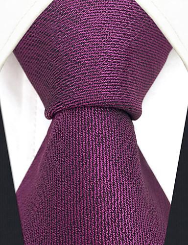 גברים של המפלגה עבודה עניבת קרן - בצבע מוצק jacquard