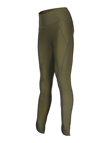 5b21f74fb7957 Women's Running Tights Black Khaki Sports Modal Tights Leggings Yoga  Fitness Gym Workout Activewear Quick Dry