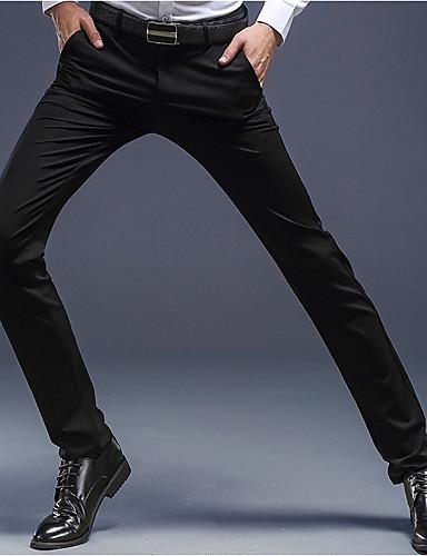 בגדי ריקוד גברים סגנון סיני משי משוחרר מכנסיים אחיד / עבודה