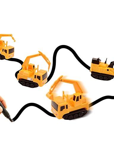 billige Lekebiler i støpejern-Magic Inductive Car / Lekebiler Truck / Entreprenørmaskiner Bil Spesialdesignet / Foreldre-barninteraksjon / Lyssensor Myk Plastikk Barne Gave 1 pcs