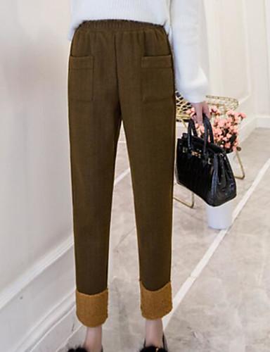 בגדי ריקוד נשים כותנה רגל רחבה מכנסיים אחיד / חורף / חגים