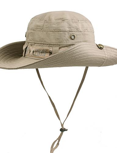billige Tilbehør-Hatt til turbruk Solhatt UV-beskyttende lue Hatt UV-bestandig Sommer kaffe Unisex Utendørs Trening Ensfarget / Bomull