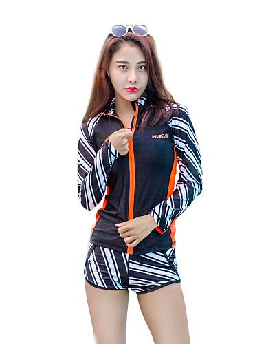 85478a592c2df HISEA® Women s Rash Guard Dive Skin Suit SPF50 UV Sun Protection Windproof  Lycra Long Sleeve Swimwear Beach Wear Diving Suit Geometric   UV Resistant  ...