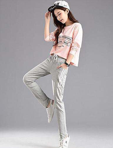 בגדי ריקוד נשים כותנה מכנסי טרנינג מכנסיים אחיד / חורף