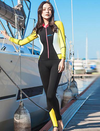 HISEA® Mulheres Macacão de Mergulho Longo 0,5 mm Roupas de Mergulho Respirável Manga Longa - Natação / Mergulho / Surfe Sólido / Moderno