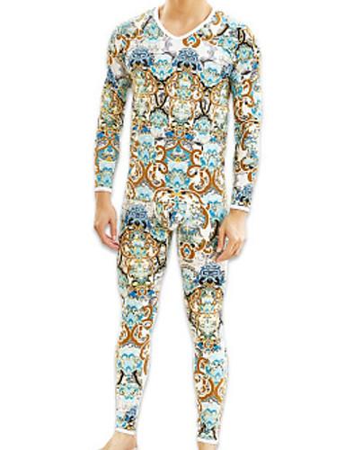 בגדי ריקוד גברים מיקרו-אלסטי אחיד-בינוני (מדיום) תחתונים(כותנה)1 תלתן אודם צהוב כחול ים