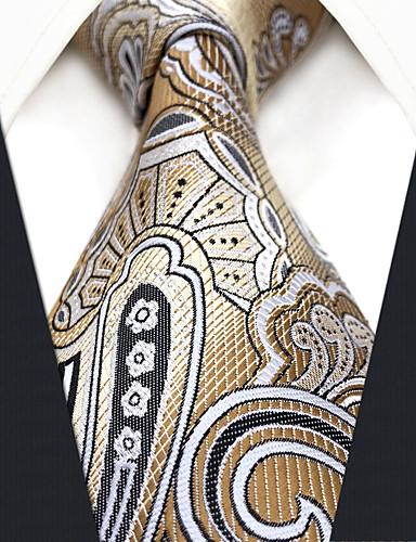 עניבת צווארון - גיאומטרי / קולור בלוק / סרוג עבודה / בסיסי בגדי ריקוד גברים
