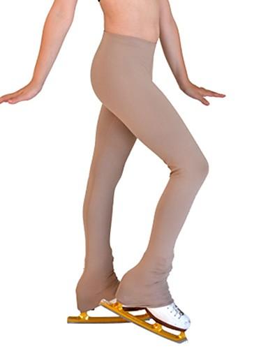 abordables Robe de Patinage-Pantalons de Patinage Artistique Femme Fille Patinage Pantalons / Surpantalons Kaki Spandex Elastique Entraînement Compétition Tenue de Patinage Couleur Pleine Manches Longues Patinage sur glace