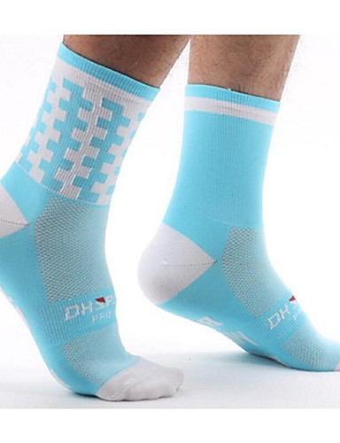 cheap Cycling Clothing-Compression Socks Sport Socks / Athletic Socks Cycling Socks Men's Women's Bike / Cycling Lightweight Anatomic Design Breathability 1 Pair Letter & Number Nylon Pink Green / Yellow Royal Blue L-XL