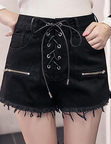 בגדי ריקוד נשים פעיל כותנה ישר מכנסיים - גיזרה גבוהה אחיד / חורף / חגים / ליציאה
