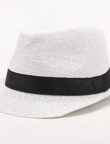 halpa Miesten hatut-Miesten Vintage Aurinkohattu-Yhtenäinen Puuvilla Kesä Valkoinen Musta Vaalean ruskea