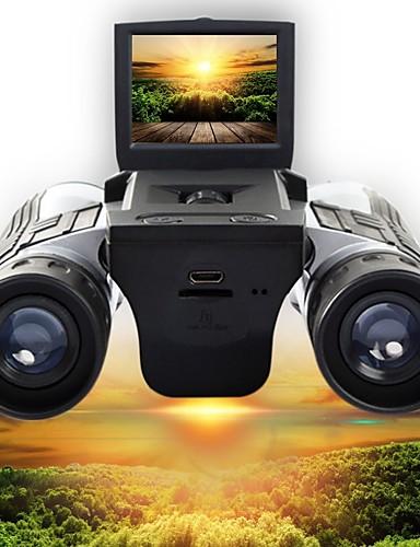 olcso Sport & túra-12 X 32 mm Távcsövek High Definition LCD képernyő Videó Kempingezés és túrázás Vadászat Mászás Szilikongumi Gumis szilícium