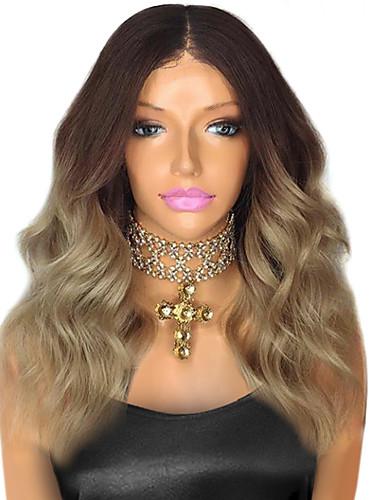 povoljno Perike s ljudskom kosom-Remy kosa Perika s prednjom čipkom bez ljepila Lace Front Perika Beyonce stil Brazilska kosa Tijelo Wave Ombre u dvije nijanse Perika 130% Gustoća kose s dječjom kosom Ombre Prirodna linija za kosu