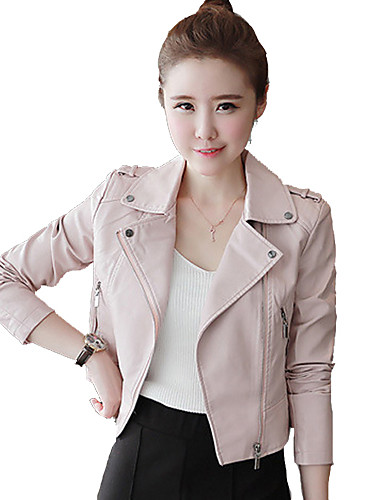 Women's Leather Jacket, Solid PU
