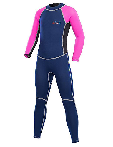cheap Wetsuits, Diving Suits & Rash Guard Shirts-Bluedive Boys' Girls' Full Wetsuit 2mm Neoprene Diving Suit Thermal / Warm Quick Dry Ultraviolet Resistant Long Sleeve Back Zip - Swimming Diving Surfing Patchwork / Stretchy