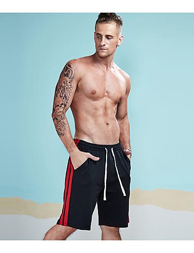 בגדי ריקוד גברים פעיל כותנה שורטים צ'ינו מכנסיים אחיד פסים קולור בלוק