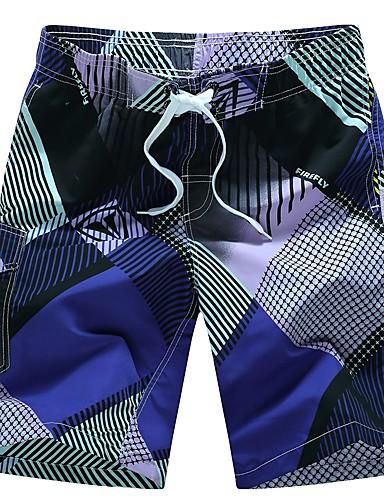 בגדי ריקוד גברים ישר / צ'ינו מכנסיים דפוס, גיאומטרי / ספורט