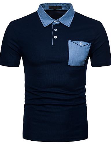 צווארון חולצה סגנון רחוב Polo - בגדי ריקוד גברים / שרוולים קצרים