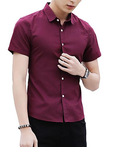 Koszula Męskie Podstawowy Moda miejska Jendolity kolor