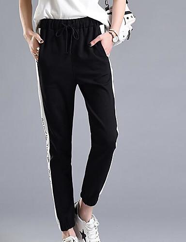 מכנסיים פסים צ'ינו פשוט בגדי ריקוד נשים
