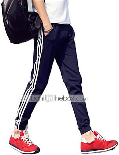 בגדי ריקוד גברים פעיל כותנה רזה פעיל / משוחרר / מכנסי טרנינג מכנסיים פסים / ספורט / סוף שבוע