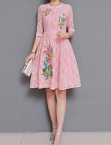 מקסי רקום, פרחוני - שמלה נדן סגנון סיני בגדי ריקוד נשים