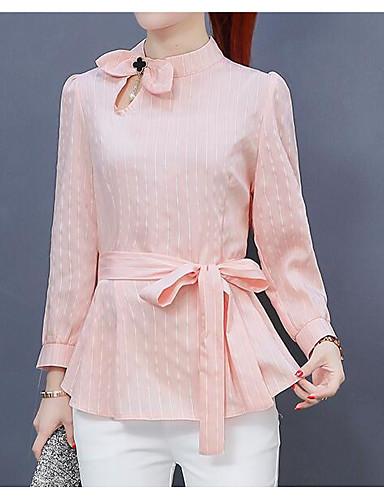 billige Topper til damer-Sommerfuglermer Skjorte Dame - Stripet Grunnleggende / Punk & Gotisk Dusty Rose Rosa