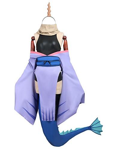 povoljno Anime kostimi-Inspirirana Miss Kobayashi's Dragon Maid Cosplay Anime Cosplay nošnje Japanski Cosplay Suits / Dresses Other Kratki rukav / Dugih rukava Hula-hopke / Onesie / Čarape / More Accessories Za Muškarci