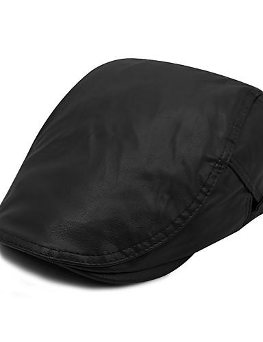 כובע כומתה (בארט) כובע עם שוליים רחבים כובע שמש כובע בייסבול - אחיד פוליאוריתן עבודה יוניסקס