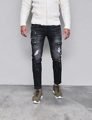 מכנסיים מנוקד צ'ינו ג'ינסים פאנק & גותיות בגדי ריקוד גברים
